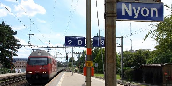 Bahnhof Nyon.