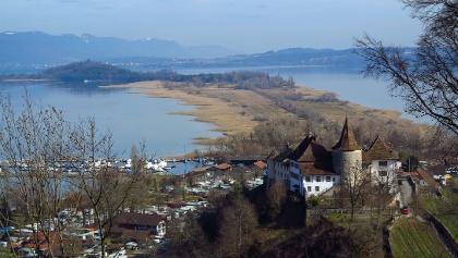 Schloss Erlach und St. Petersinsel.