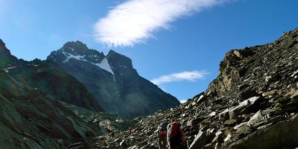 Passo di Vallanta mit Monviso im Hintergrund