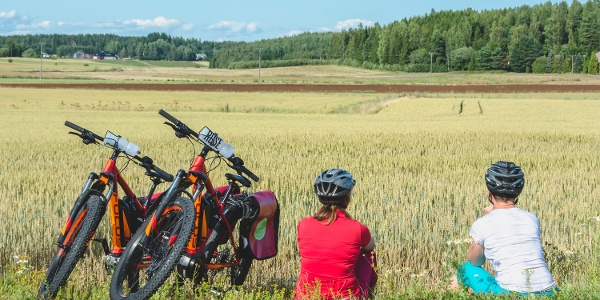 Stop to enjoy the silence of the Finnish countryside
