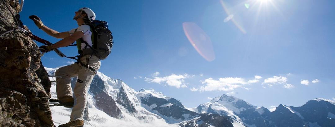 Via ferrata climb