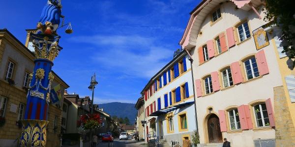 In der Altstadt von Boudry.
