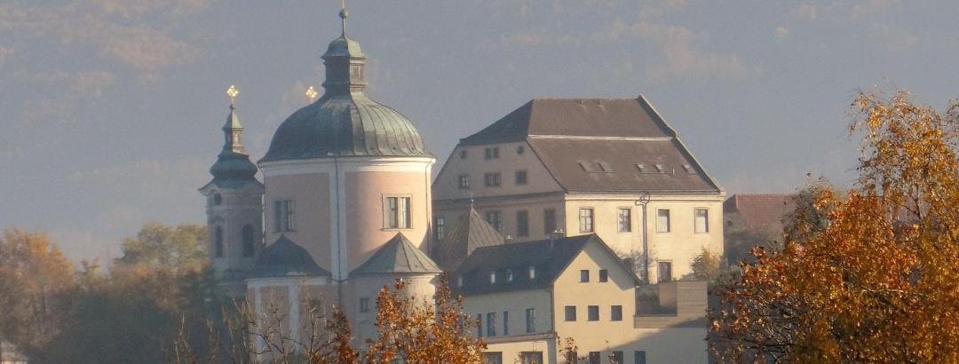 Ausblick auf die Wallfahrtskirche Christkindl
