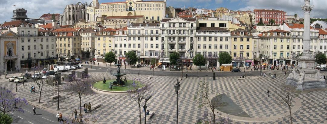 Rossio in Lissabon Foto: