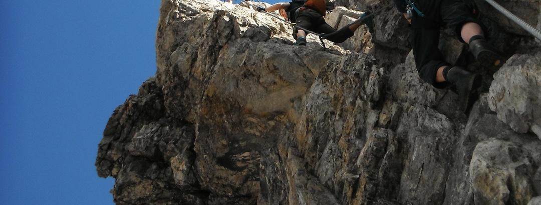 Steilpassage des Imster Klettersteigs