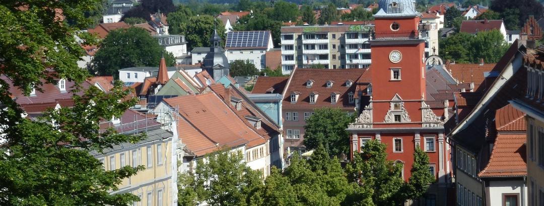 Blick auf den Marktplatz Gotha
