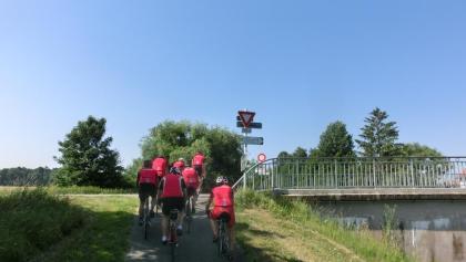 Entlang dem Rhein-Rhone Kanal.