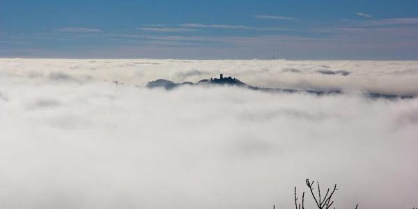 Die Nürburg im Nebel