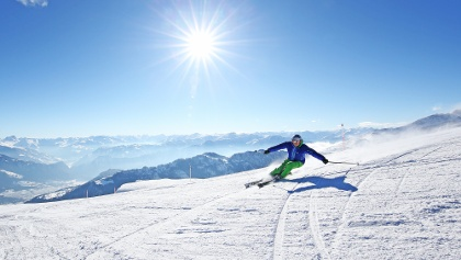 Skifahren am Hausberg Pizol