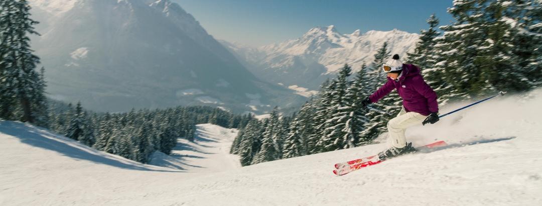 Aussichtsreiche Pisten im Skigebiet Hochschwarzeck