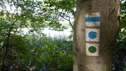Der offizielle Seerundweg ist mit einem grünen Kreis markiert.