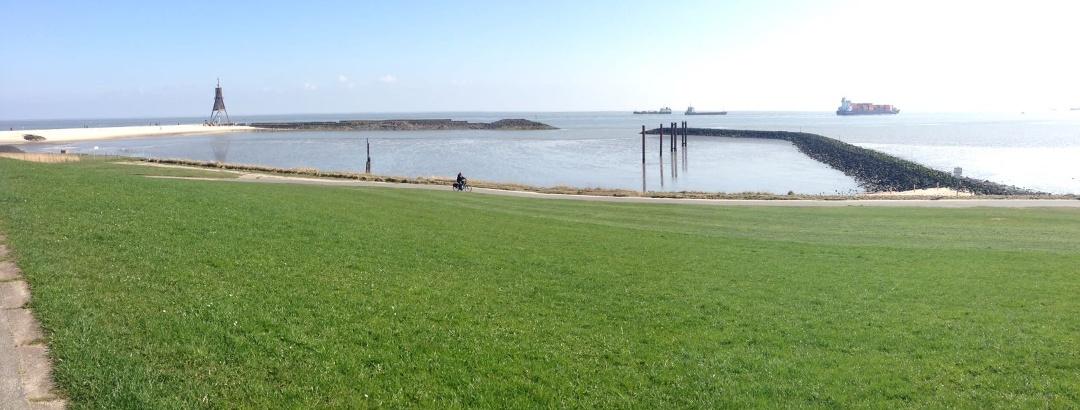 Der nördlichste Punkt Niedersachsens: die Kugelbake in Cuxhaven