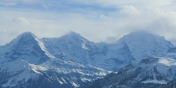 Eiger, Mönch und Jungfrau.