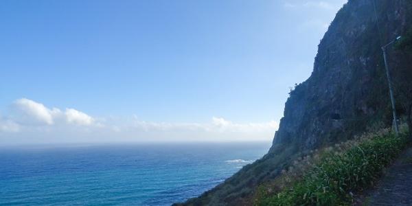 Road towards Ponta Delgada