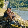 Radfahren an der Donau