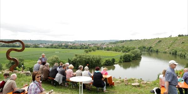 Weinausschankhütte an der Weinterrasse Kirchheim am Neckar