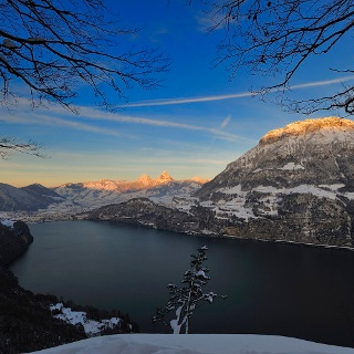 Aussicht von der Marienhöhe im Winter