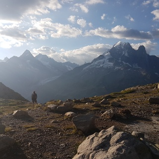 Views to the Mont Blanc Massif