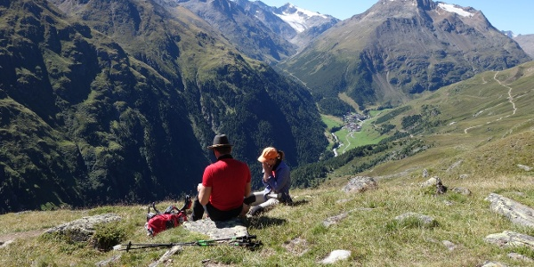Blick nach Vent mit Talleitspitze