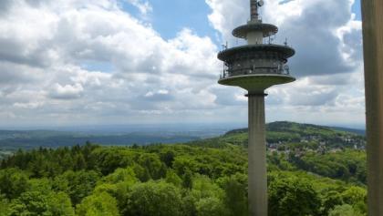 Blick vom Arzelturm über Eppenhain und Frankfurt