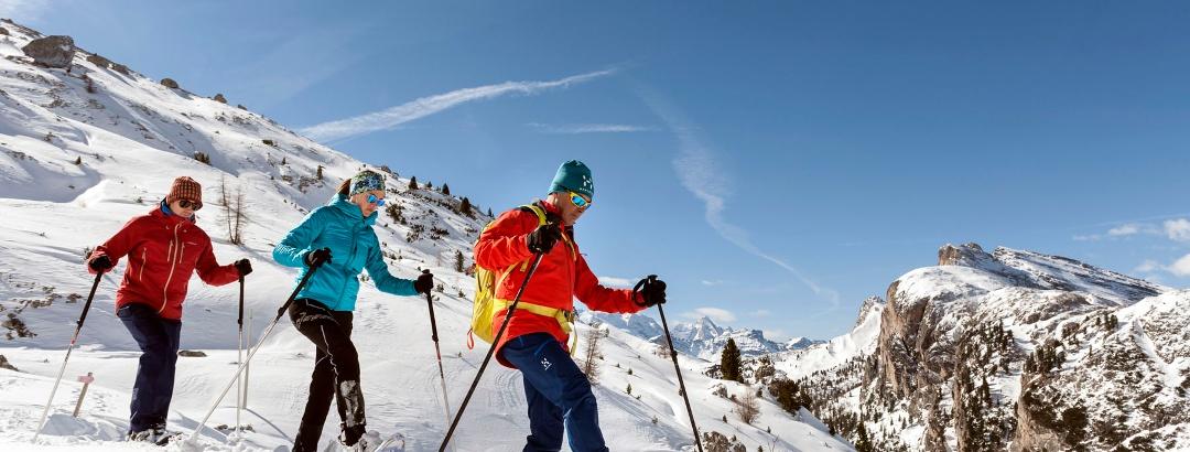 Durch die Winterlandschaft in Alta Badia