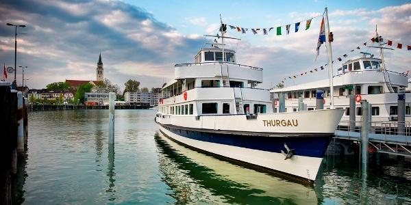 Romanshorn ist ausserdem Drehscheibe für den Schiffsverkehr. Hier kann einfach umgestiegen werden.
