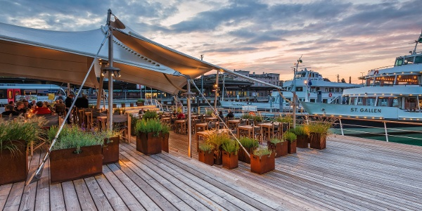 Das Restaurant Hafen in Romanshorn ist der ideale Startpunkt.
