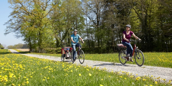 Der Bodensee Radweg ist sehr gemütlich