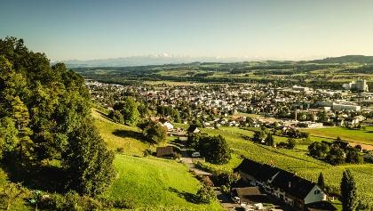 Die Tour startet in Weinfelden im Thurtal.