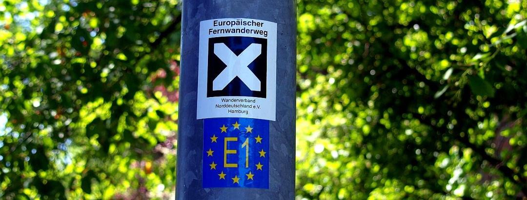 Kennzeichnung E1 Fernwanderweg