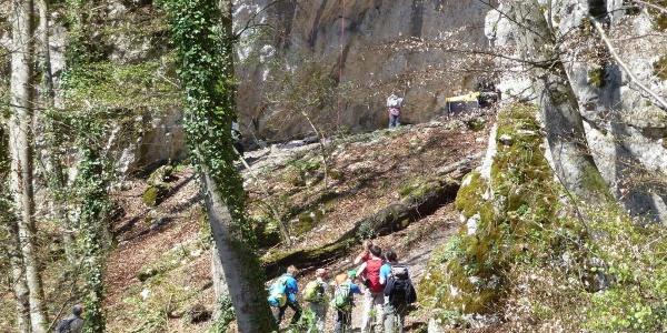 Altmühltal - Kletterfelsen bei Brug Prunn nähe Riedenburg