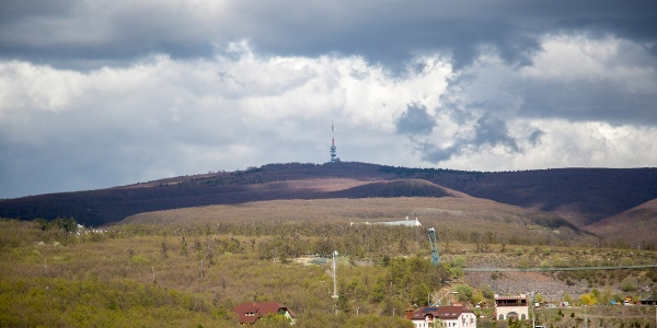 The view from Sástó lookout tower