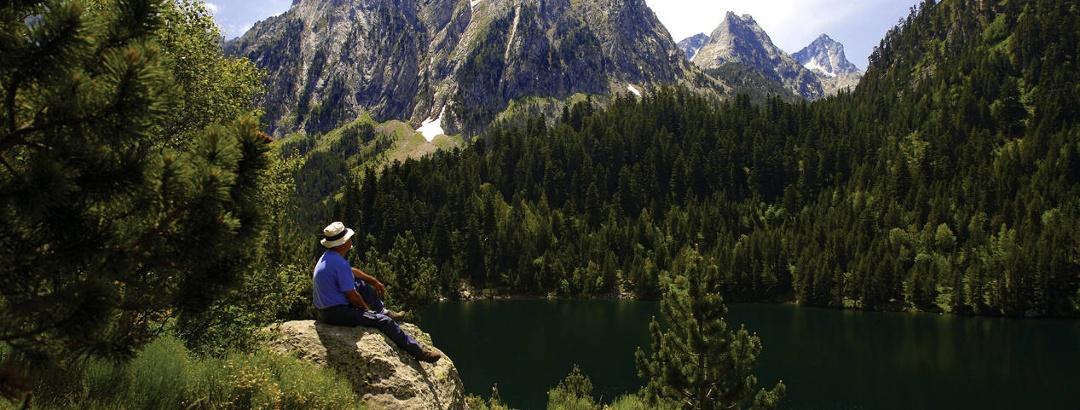Nationalpark Aigüestortes und Estany de Sant Maurici - Blick auf die Encantats