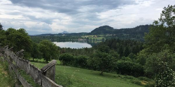 Blick auf den Längsee von Drasendorf aus