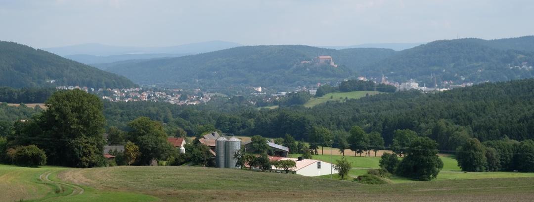 Blick nach Kulmbach bei Hofstätten