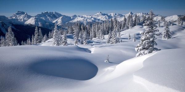 Winterlandschaft am Muttjöchle
