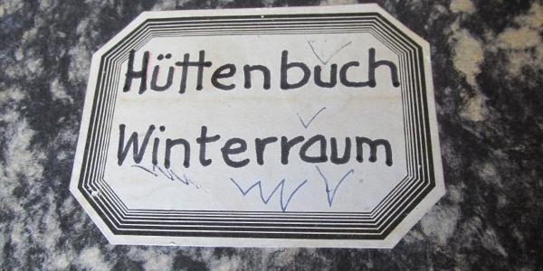 Hüttenbuch Winterraum