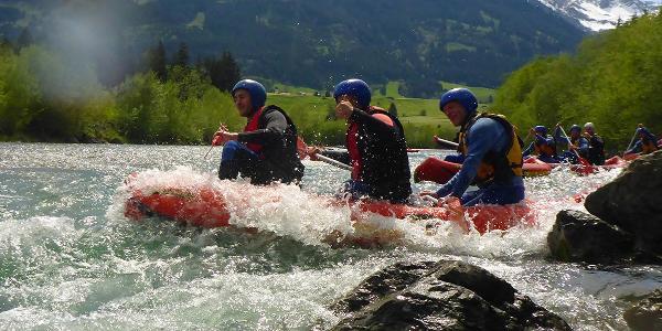 Voll erwischt - Die Wellen und Strömungen sorgen für Adrenalin