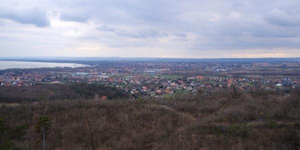 Pohľad na mesto Keszthely z rozhľadne Festetics