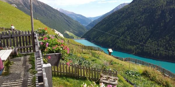Blick von Finailhof Vernagter See