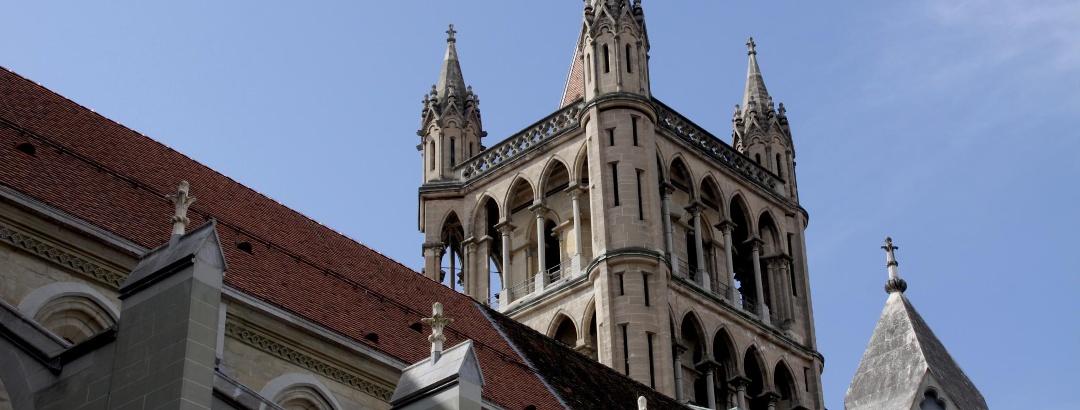 Kulturgeschichte: Kathedrale in Lausanne.
