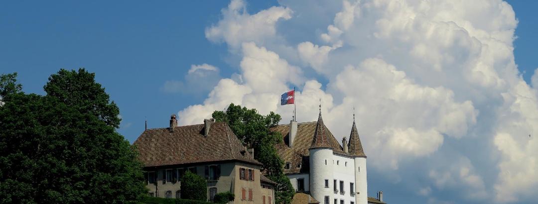 Das Schloss von Nyon.