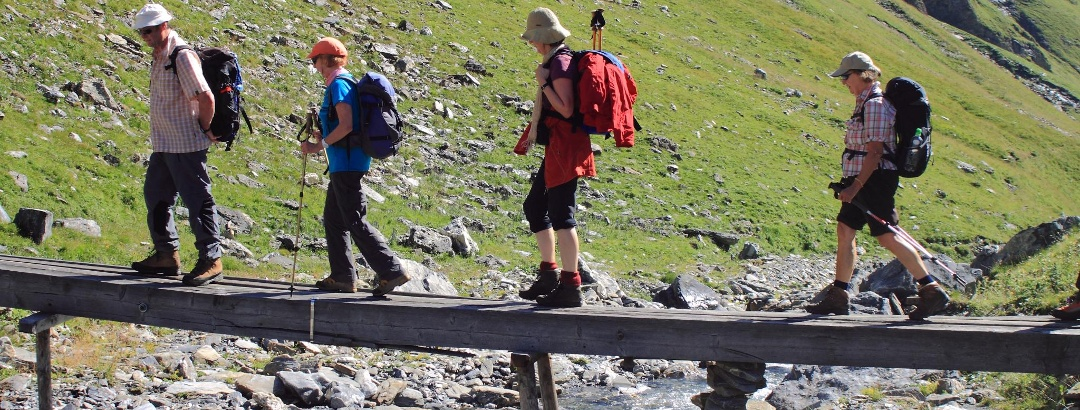 On the Great Walser Path - crossing the Stutzbach