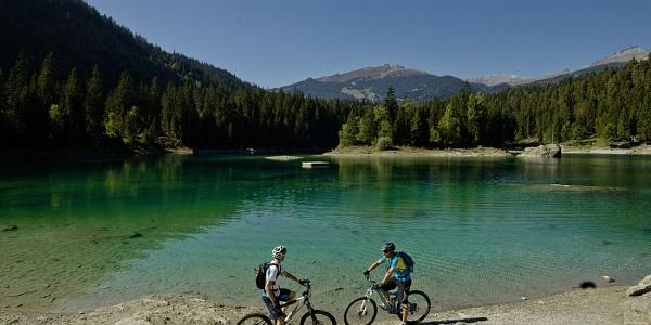 Biken am Caumasee