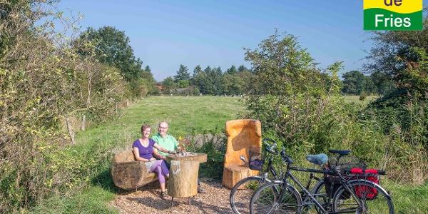 Radfahrer-Rast in Schortens