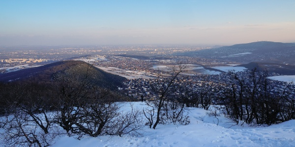 The view over Budapest from Nagy-Kevély