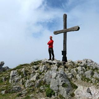 Auf dem Gipfel der Kaiseregg.