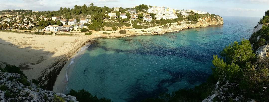 Bonita Cala en las Islas Baleares