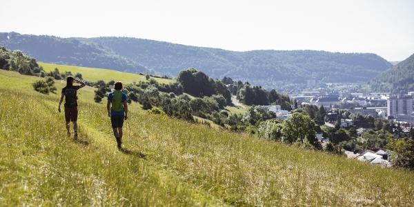 Unterwegs auf dem Traufgang Ochsenbergtour