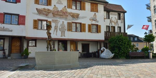 Die Etappe führt mitten durch die schöne Stadt Arbon